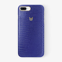 Lizard Case iPhone 7/8 Plus | Blue - Yellow Gold without-personalization