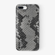 Natural Python iPhone Case for iPhone 7/8 Plus finishing black - Hadoro Luxury Cases
