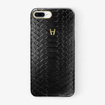 Python Case iPhone 7/8 Plus | Black - Yellow Gold without-personalization