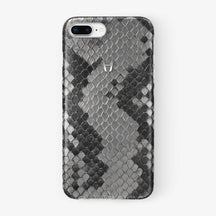 Natural Python iPhone Case for iPhone 7/8 Plus finishing stainless steel - Hadoro Luxury Cases