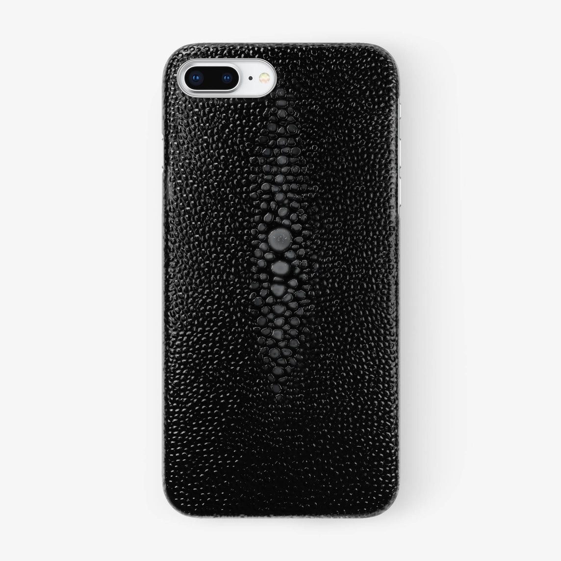 Black Stingray iPhone Case for iPhone 7/8 Plus finishing stainless steel - Hadoro Luxury Cases