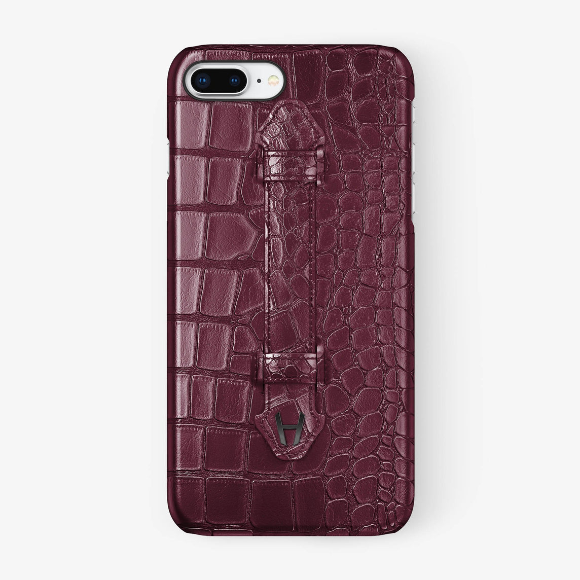 Alligator Finger Case iPhone 7/8 Plus | Burgundy - Black