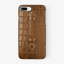 Alligator Finger Case iPhone 7/8 Plus | Cognac - Black