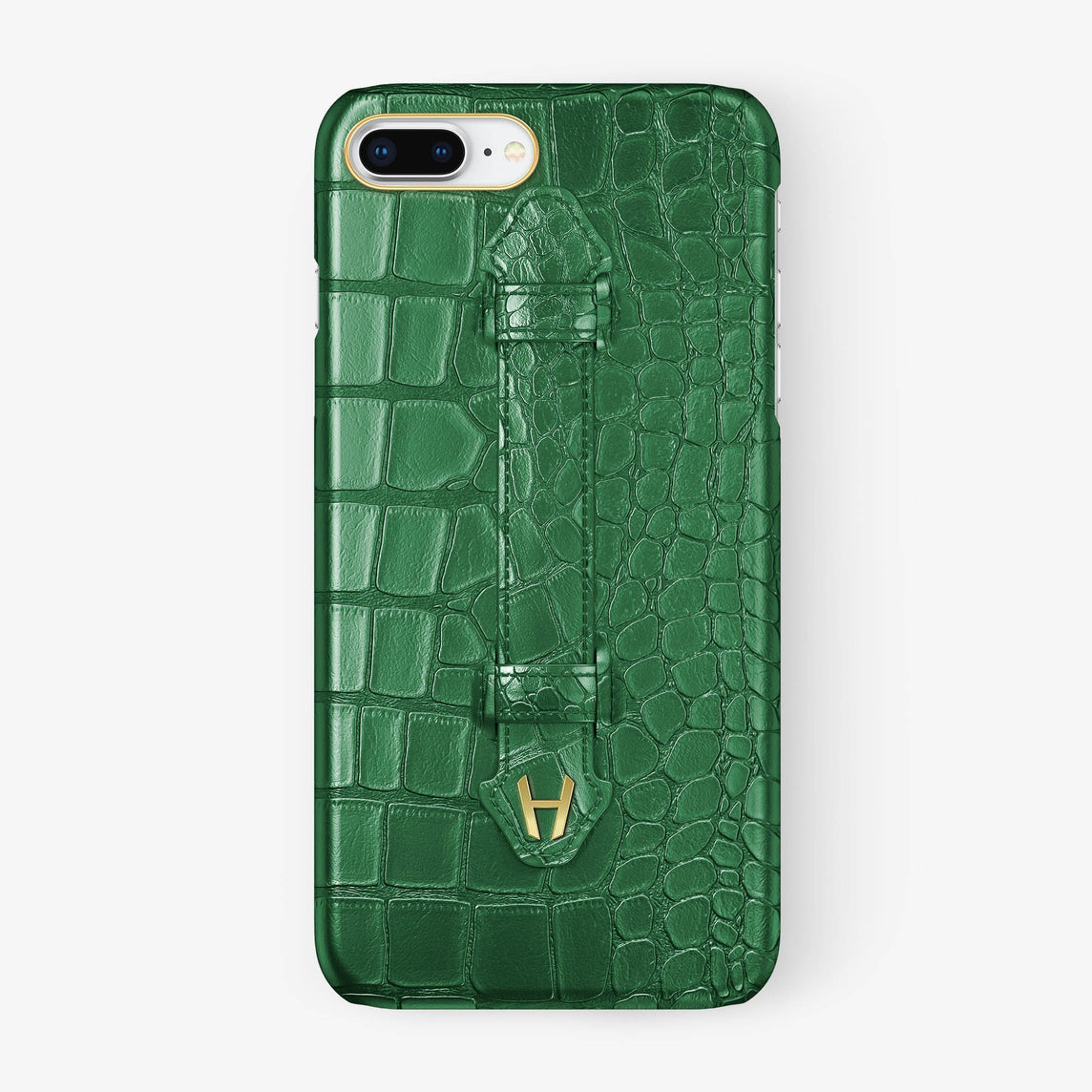 Alligator Finger Case iPhone 7/8 Plus | Green - Yellow Gold