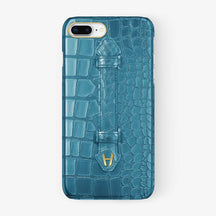 Alligator Finger Case iPhone 7/8 Plus | Teal - Yellow Gold