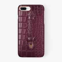 Alligator Finger Case iPhone 7/8 Plus | Burgundy - Rose Gold
