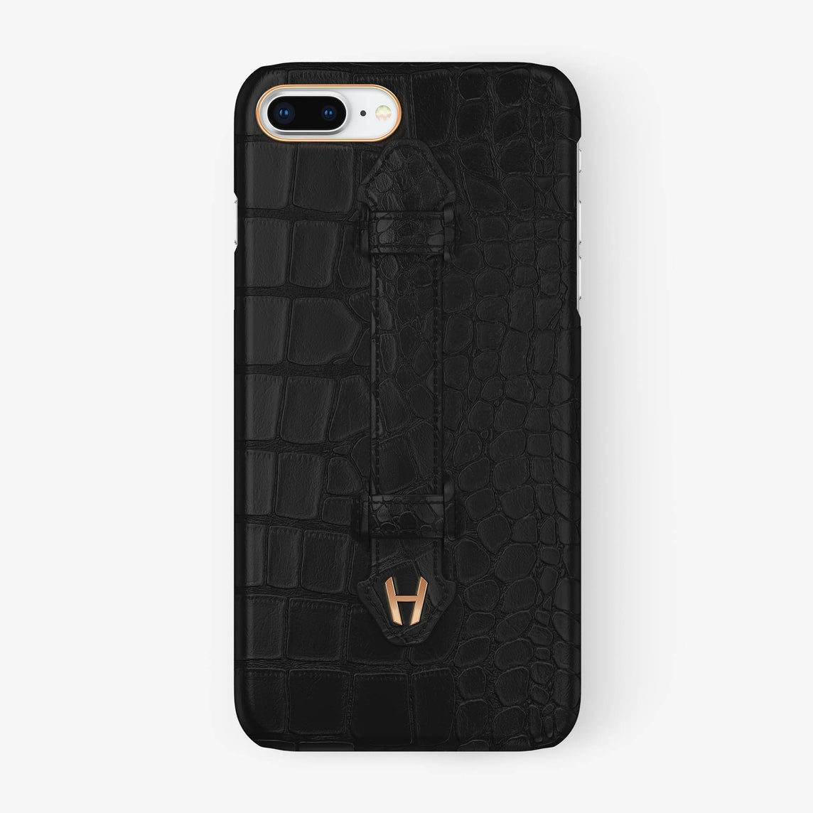 Alligator Finger Case iPhone 7/8 Plus | Phantom Black - Rose Gold