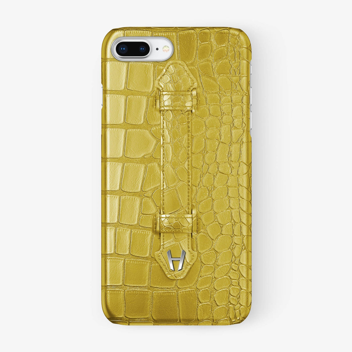 Alligator Finger Case iPhone 7/8 Plus | Yellow - Stainless Steel