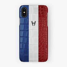 Alligator Case Flag of France iPhone X/Xs | Black - Hadoro