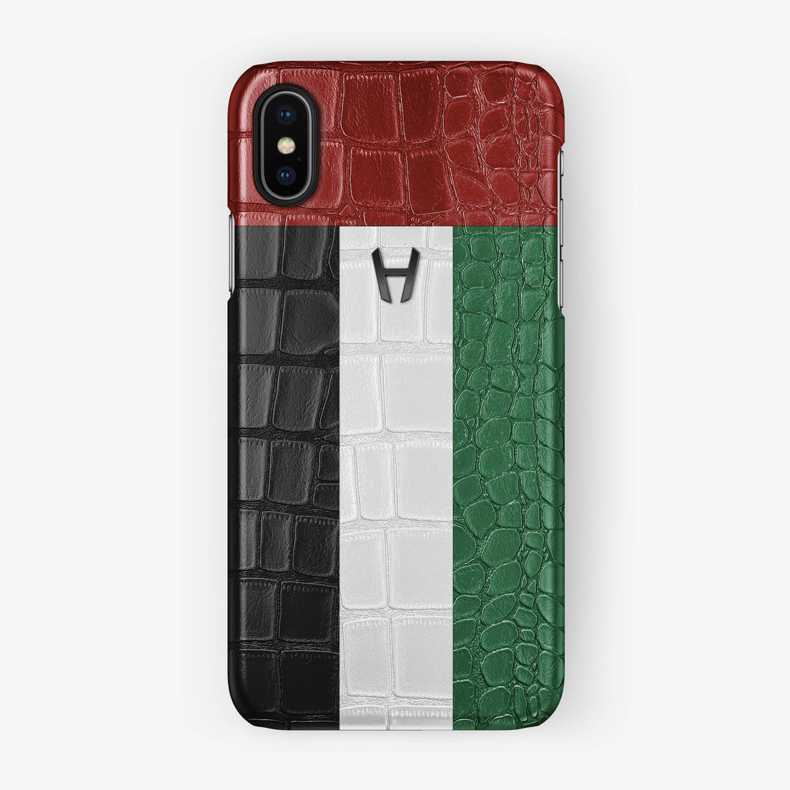 Alligator Case Flag of UAE iPhone X/Xs | Black