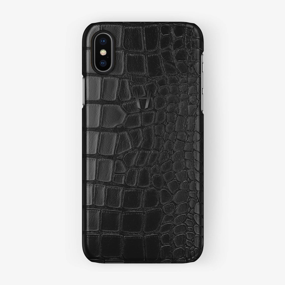 Alligator Case iPhone X/Xs | Black - Black without-personalization