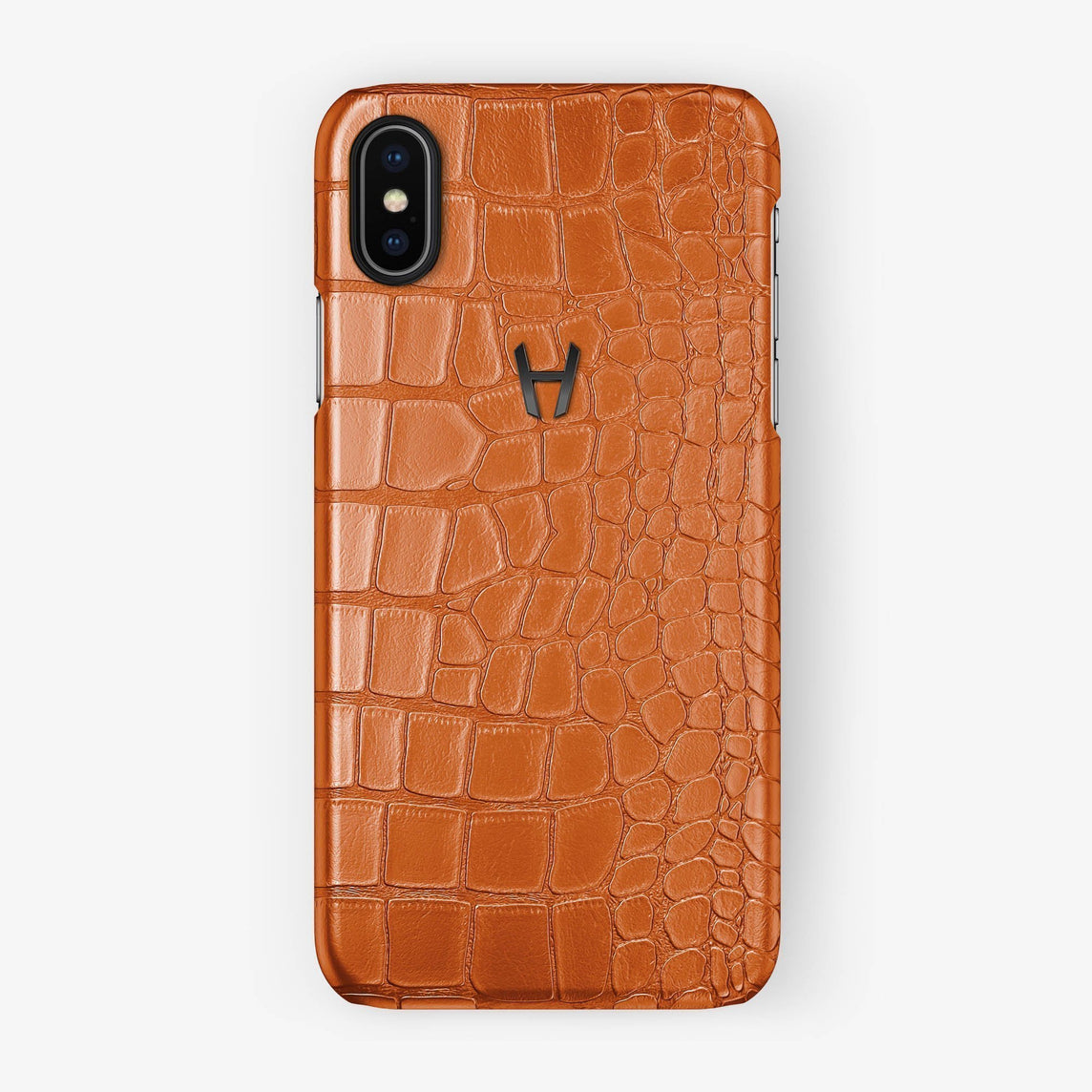 Alligator [iPhone Case] [model:iphone-xsmax-case] [colour:orange] [finishing:black] - Hadoro