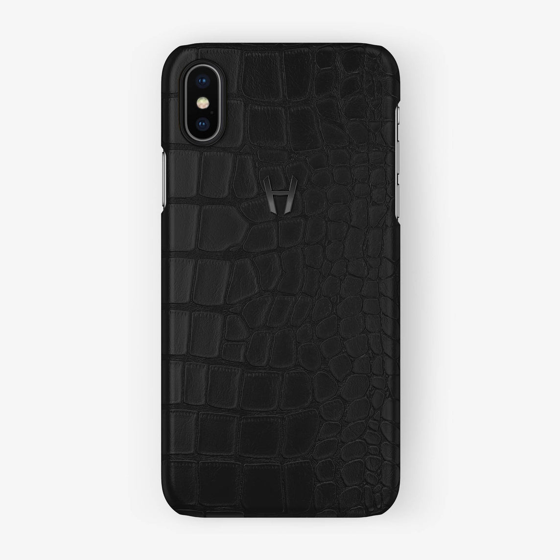 Alligator Case iPhone X/Xs | Phantom Black - Black without-personalization