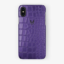 Alligator Case iPhone X/Xs | Purple - Black without-personalization
