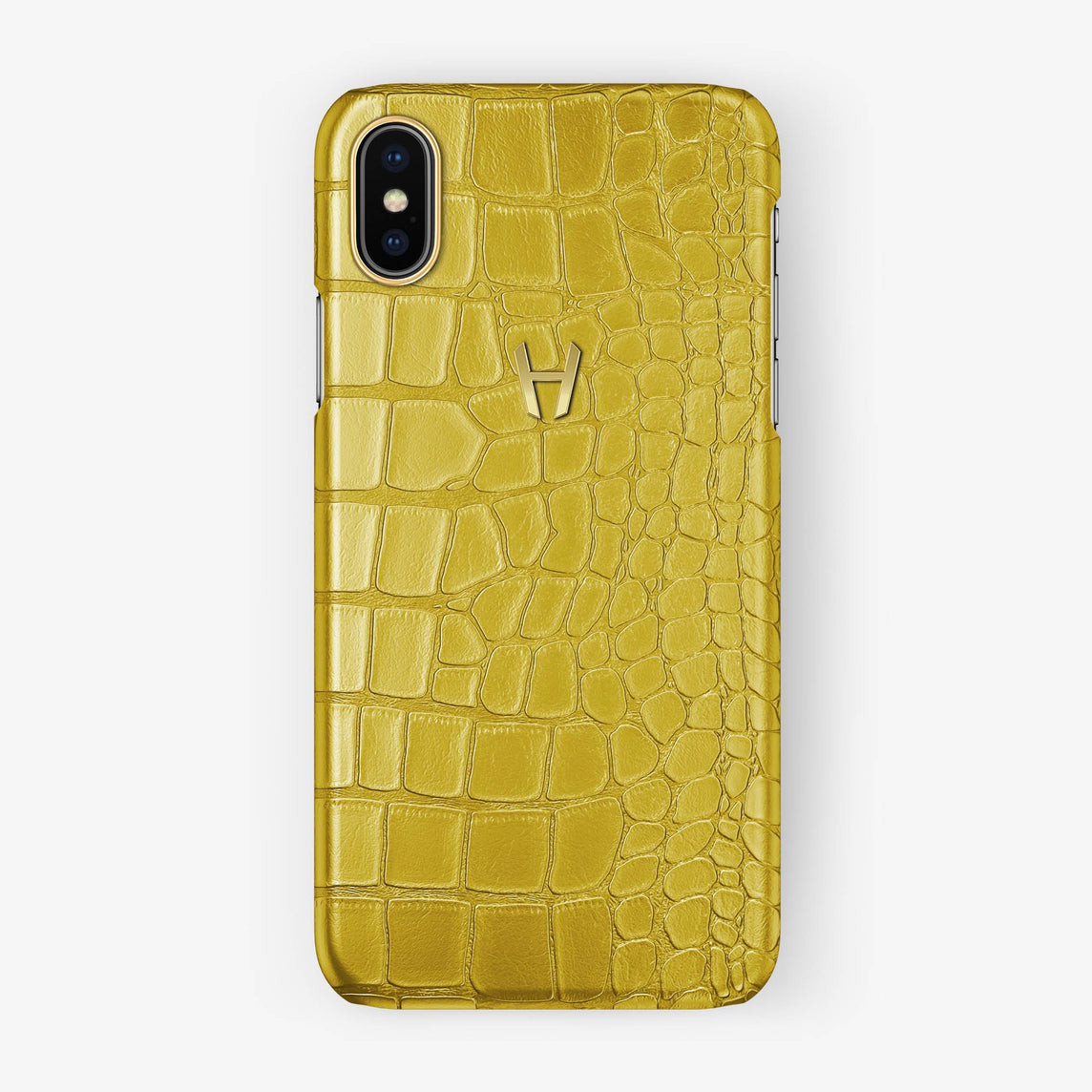 Alligator Case iPhone X/Xs | Yellow - Yellow Gold without-personalization