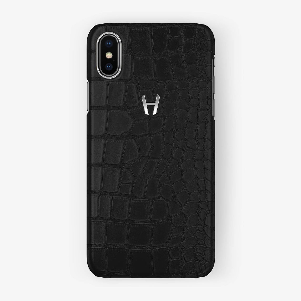 Alligator Case iPhone X/Xs | Phantom Black - Stainless Steel without-personalization