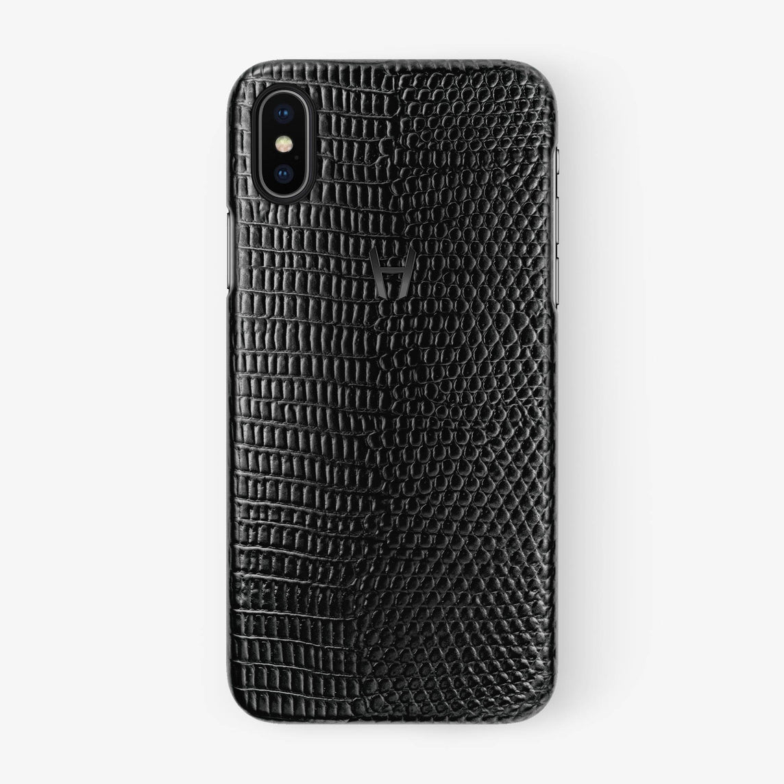 Black Lizard iPhone Case for iPhone X finishing black - Hadoro Luxury Cases