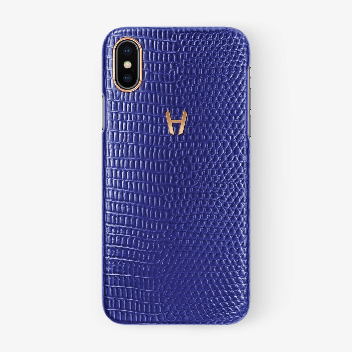 Lizard Case iPhone X/Xs | Blue - Rose Gold withouth-personalization