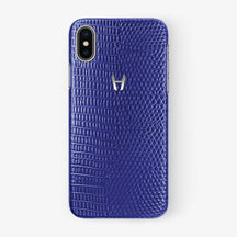 Lizard Case iPhone X/Xs | Blue - Stainless Steel withouth-personalization