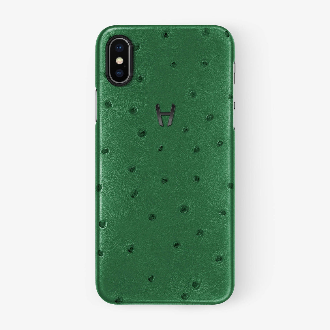 Ostrich Case iPhone X/Xs | Green - Black withouth-personalization