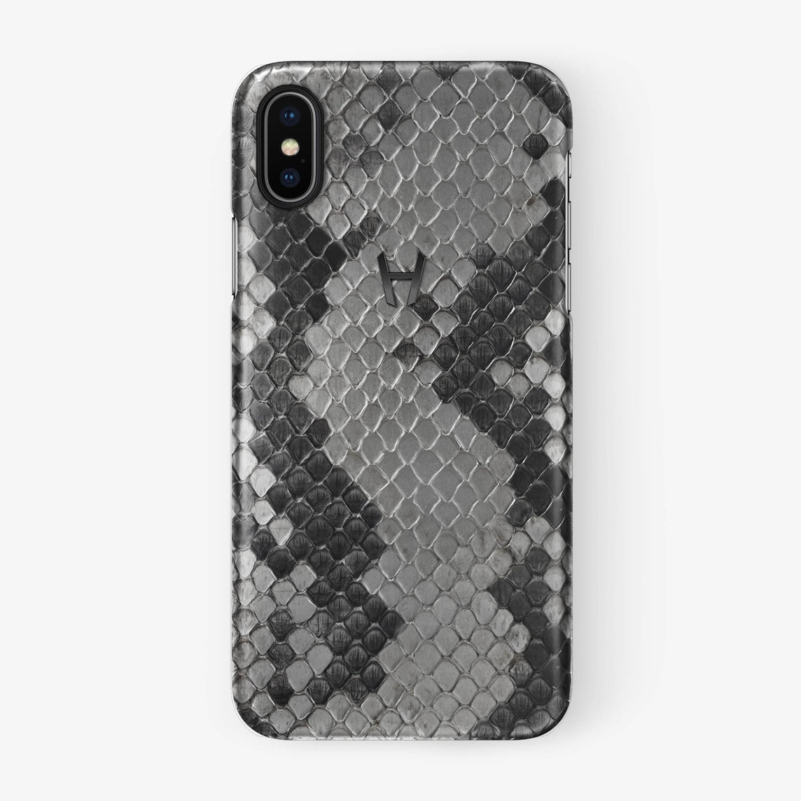 Natural Python iPhone Case for iPhone X finishing black - Hadoro Luxury Cases