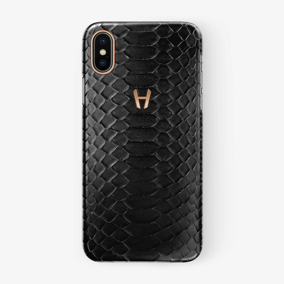 Python Case iPhone Xs Max | Black - Rose Gold without-personalization