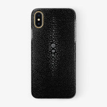 Black Stingray iPhone Case for iPhone X finishing yellow gold - Hadoro Luxury Cases