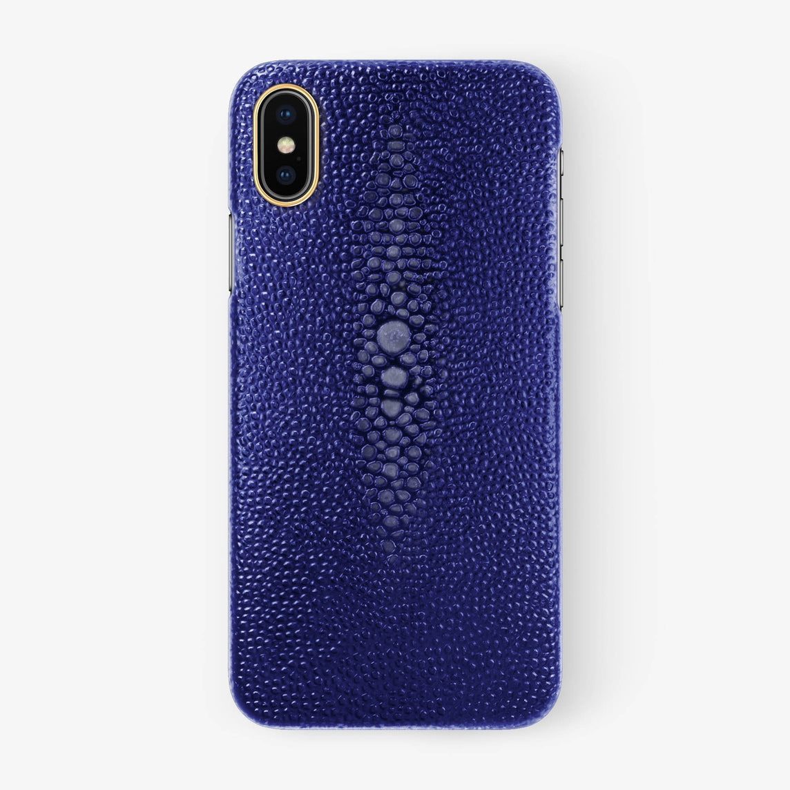 Stingray Case iPhone X/Xs | Blue - Yellow Gold