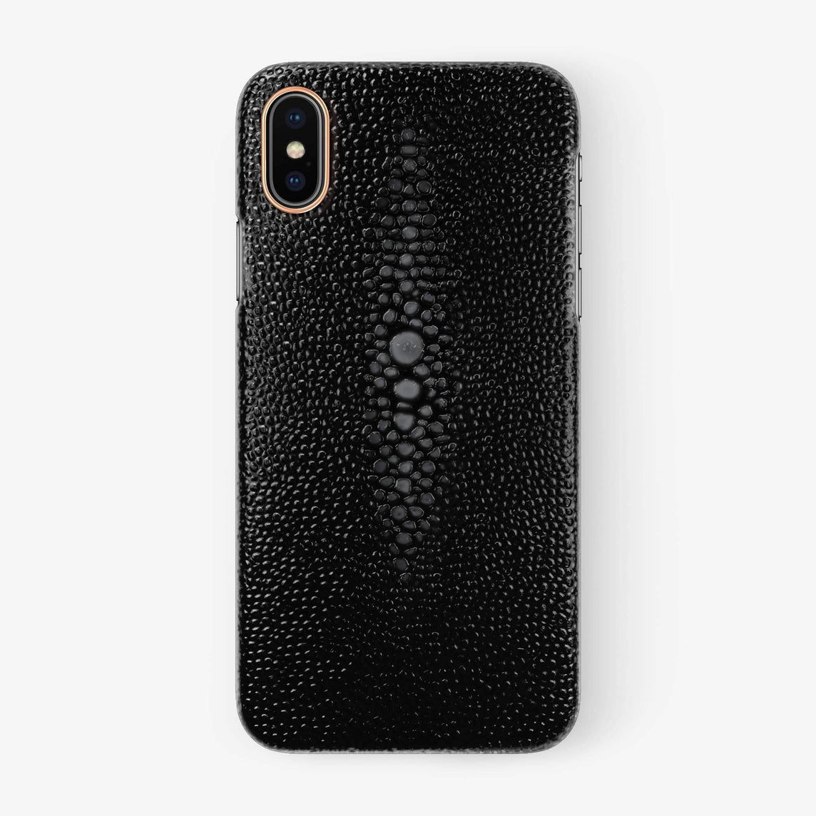 Black Stingray iPhone Case for iPhone XS Max finishing rose gold - Hadoro Luxury Cases