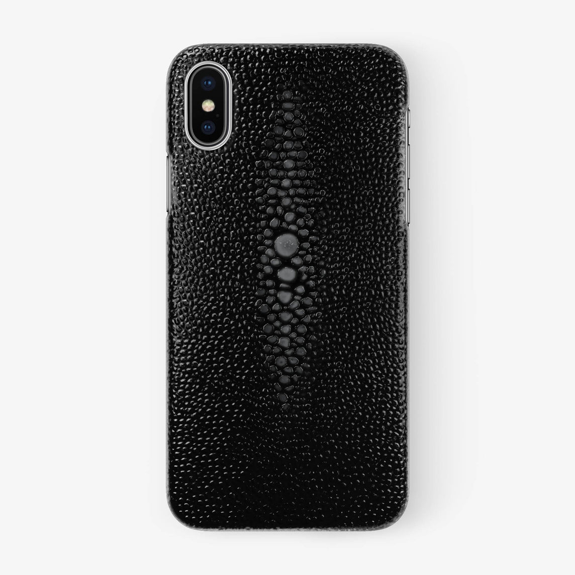 Stingray Case iPhone X/Xs | Black - Stainless Steel