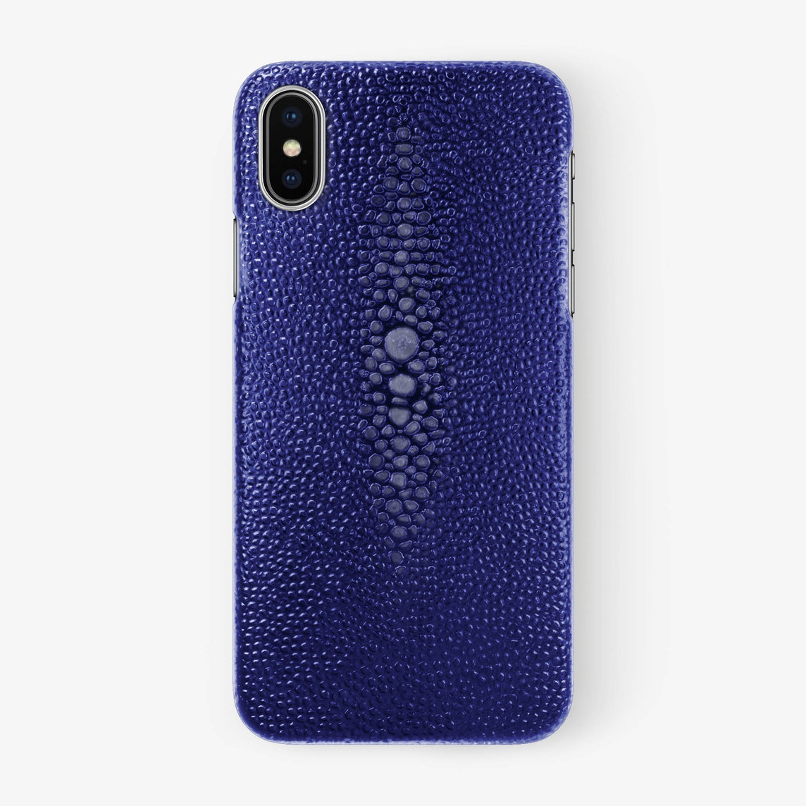 Blue Stingray iPhone Case for iPhone XS Max finishing stainless steel - Hadoro Luxury Cases