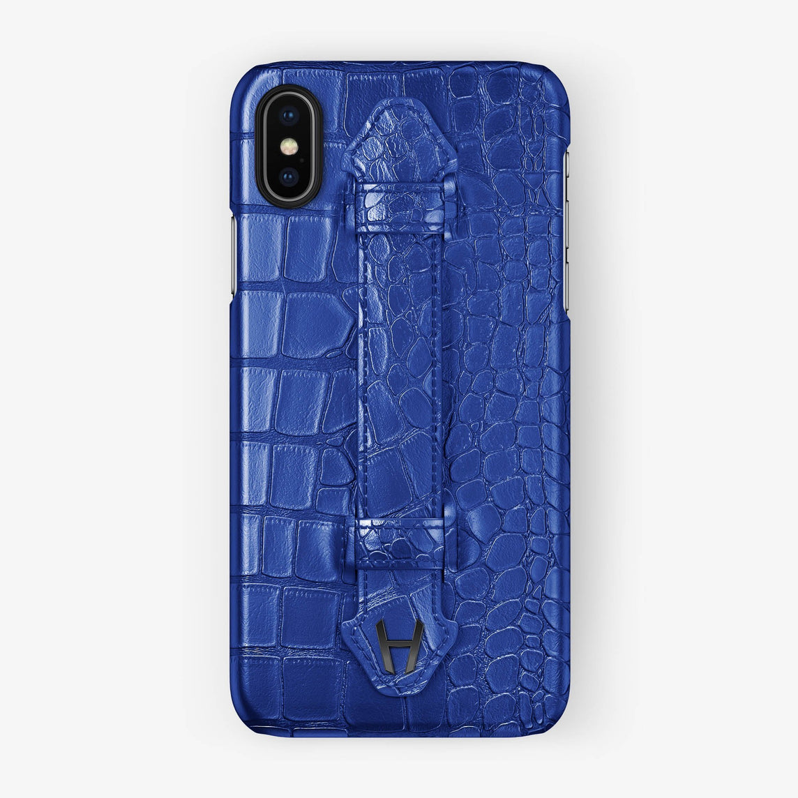Alligator Finger Case iPhone X/Xs | Peony Blue - Black without-personalization
