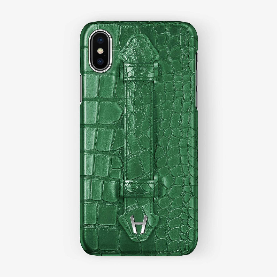 Green Alligator iPhone Finger Case for iPhone XS Max finishing stainless steel - Hadoro Luxury Cases