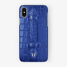 Alligator Finger Case iPhone X/Xs | Peony Blue - Stainless Steel without-personalization