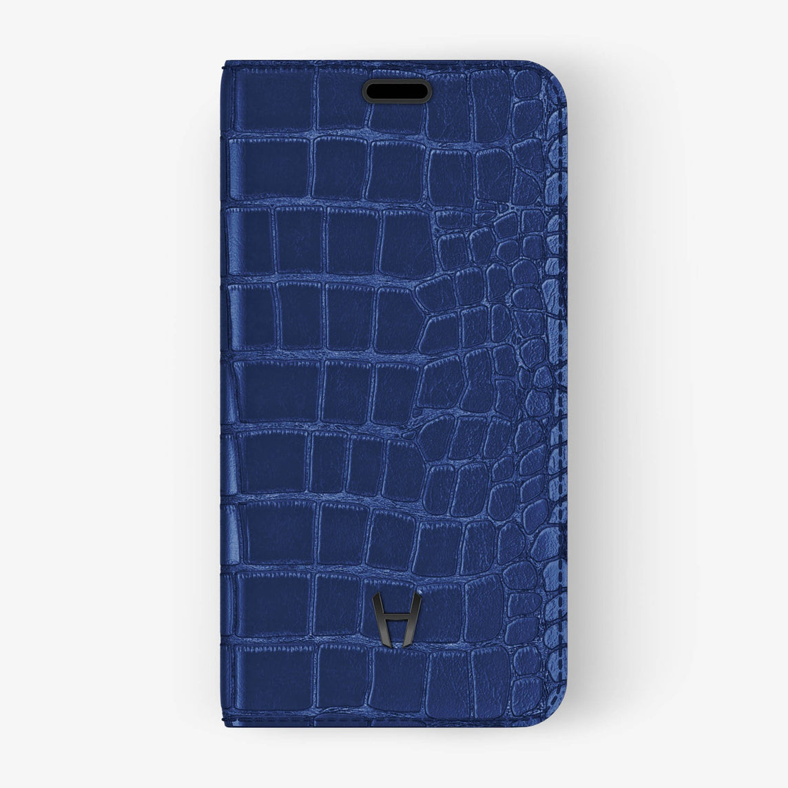 Alligator [iPhone Folio Case] [model:iphone-xr-case] [colour:navy-blue] [finishing:black]