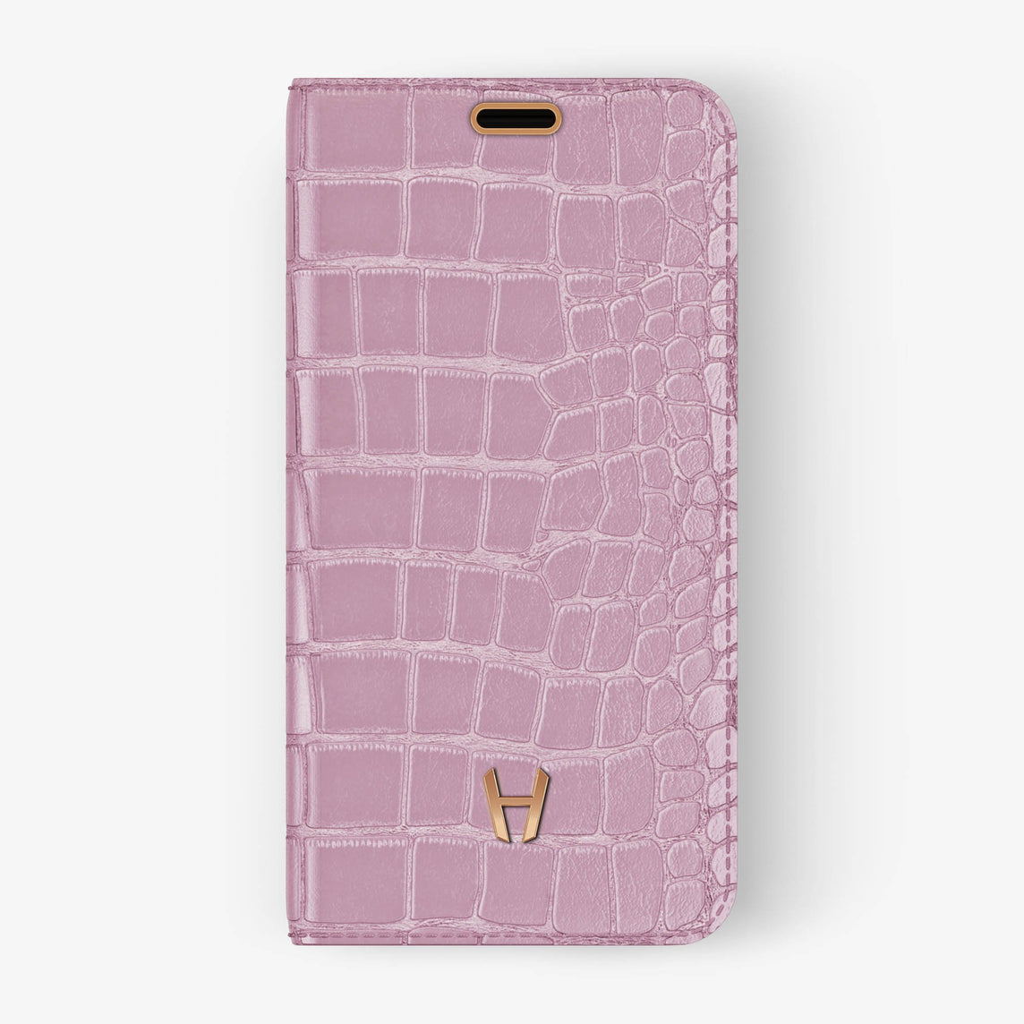 Alligator [iPhone Folio Case] [model:iphone-xr-case] [colour:pink] [finishing:rose-gold]