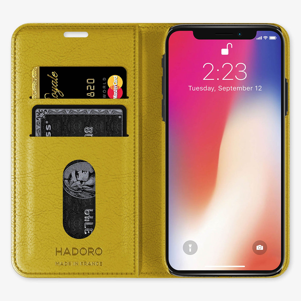 Alligator Folio Case iPhone Xr | Yellow - Rose Gold