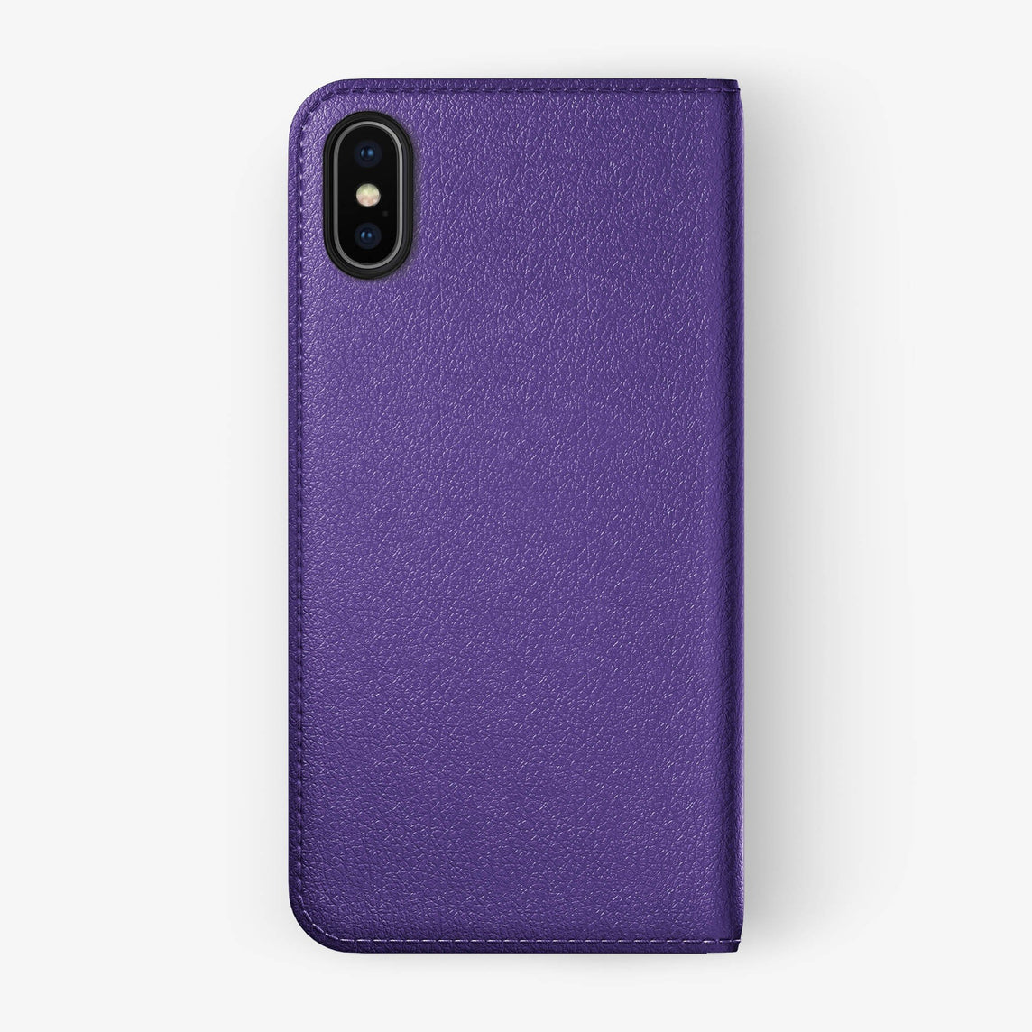 Violet Calfskin iPhone Folio Case for iPhone X finishing black - Hadoro Luxury Cases img5