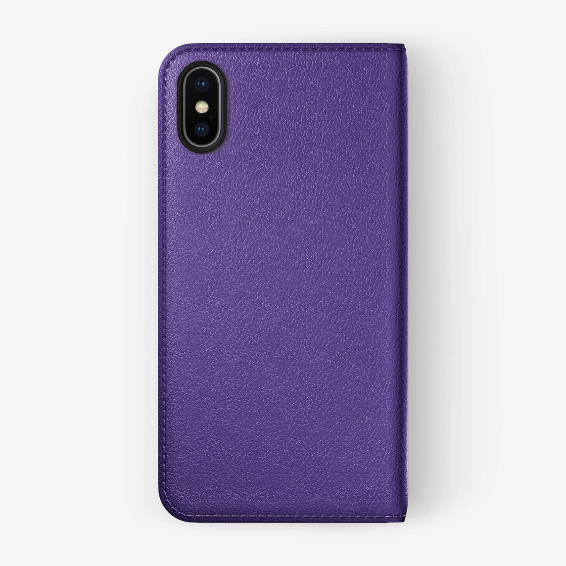 Violet Calfskin iPhone Folio Case for iPhone XS Max finishing black - Hadoro Luxury Cases img1