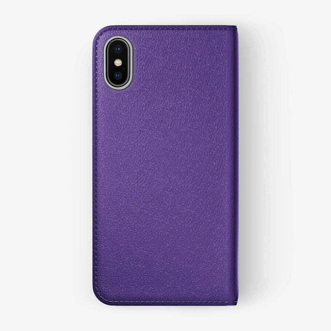 Violet Calfskin iPhone Folio Case for iPhone XS Max finishing stainless steel - Hadoro Luxury Cases -img5