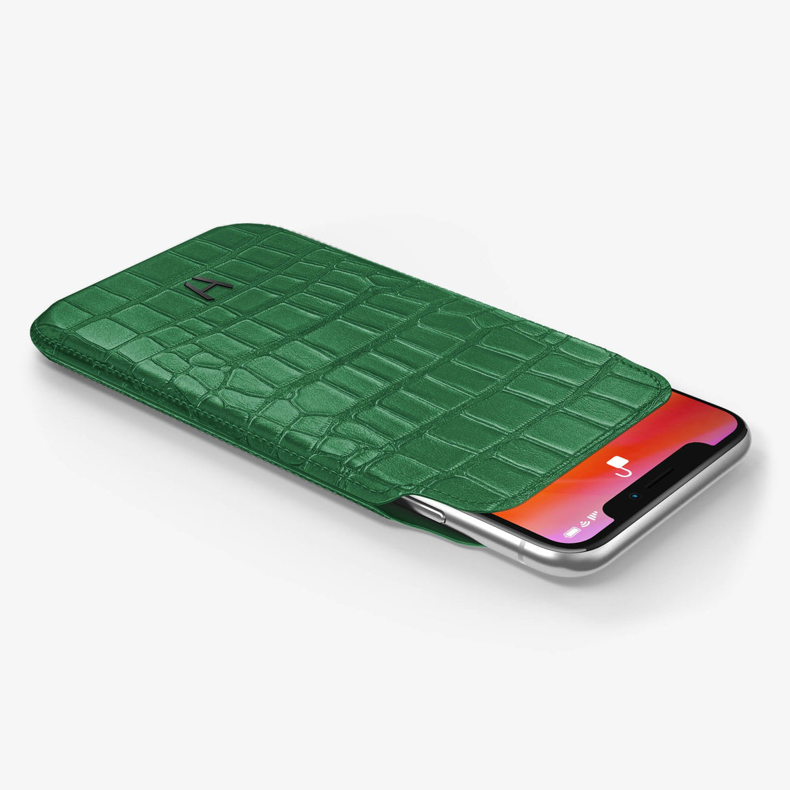 Alligator [iPhone Sleeve Case] [model:iphone-xs-case] [colour:green] [finishing:black]