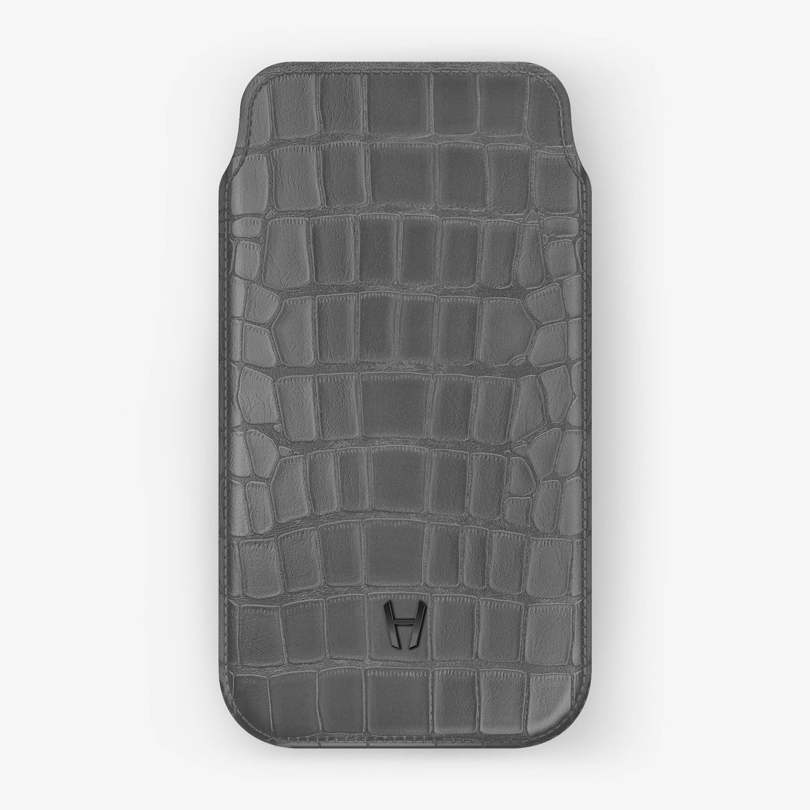 Alligator [iPhone Sleeve Case] [model:iphone-xr-case] [colour:light-grey] [finishing:black]