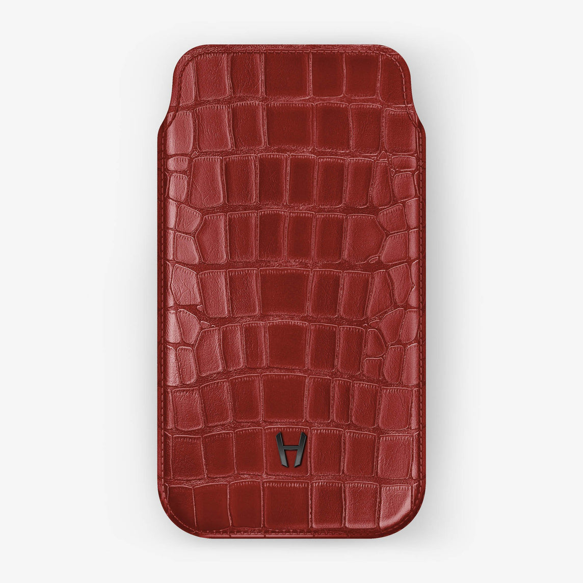 Alligator Sleeve Case iPhone Xs | Red - Black