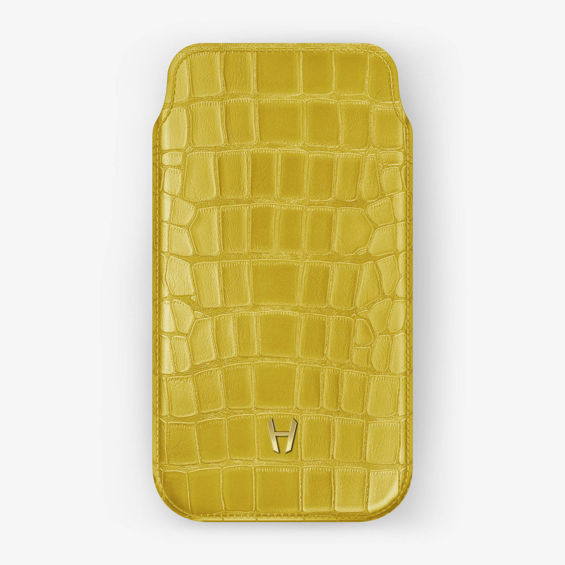 Alligator [iPhone Sleeve Case] [model:iphone-xs-case] [colour:yellow] [finishing:yellow-gold]
