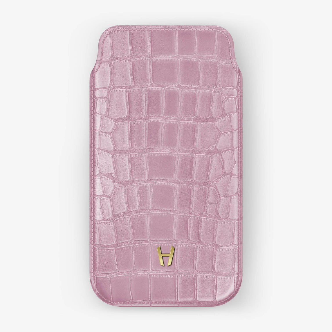 Alligator [iPhone Sleeve Case] [model:iphone-xr-case] [colour:pink] [finishing:yellow-gold]