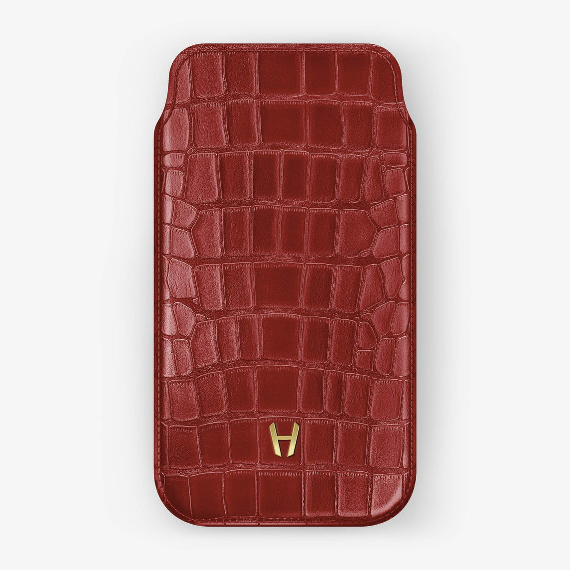 Alligator [iPhone Sleeve Case] [model:iphone-xsmax-case] [colour:red] [finishing:yellow-gold]