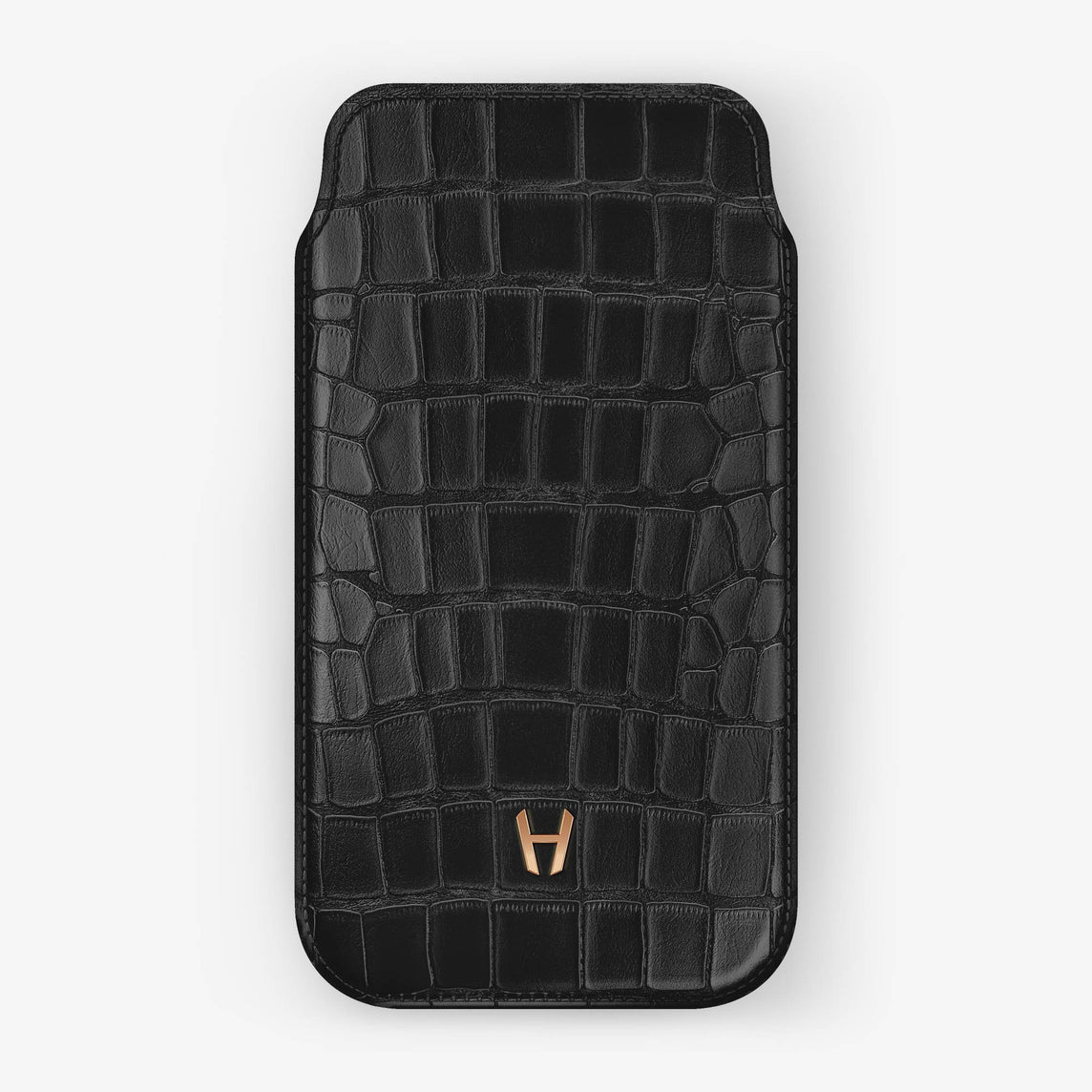 Alligator [iPhone Sleeve Case] [model:iphone-xsmax-case] [colour:black] [finishing:rose-gold]
