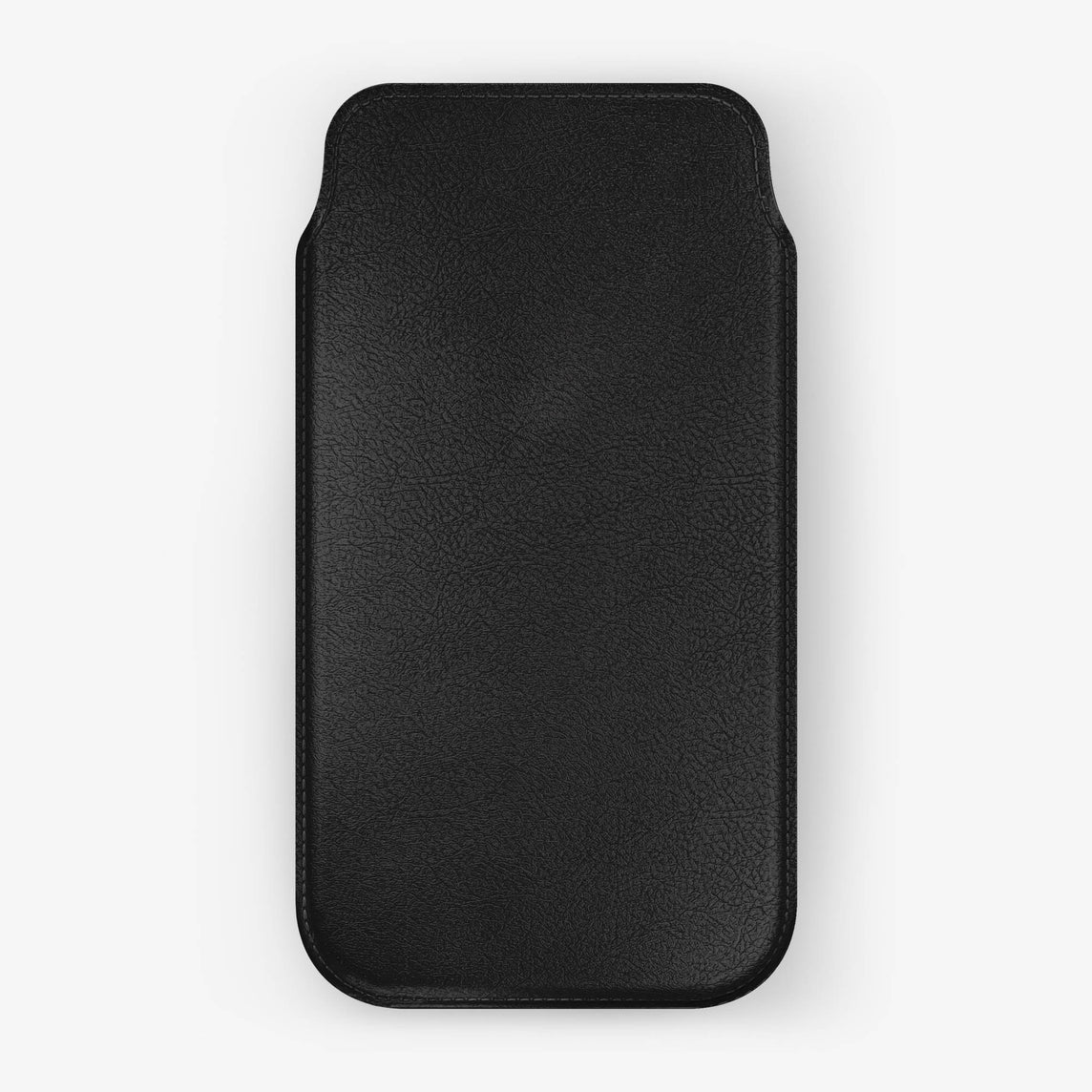 Calfskin Sleeve Case iPhone Xr | Black - Black without-personalization