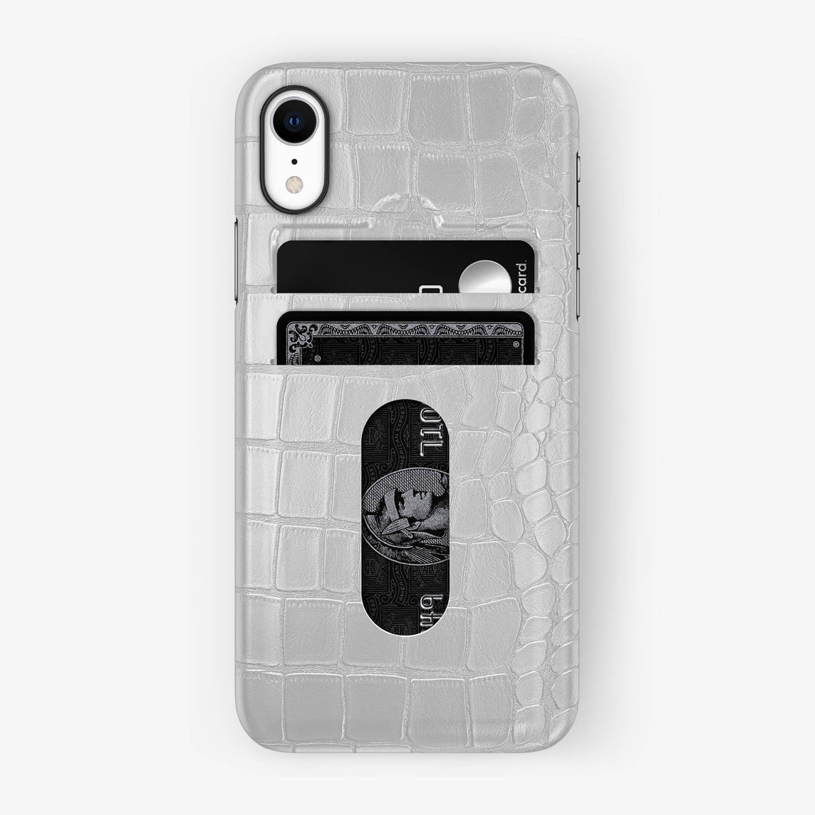 Alligator [iPhone Card Holder Case] [model:iphone-xr-case] [colour:white] [finishing:black]