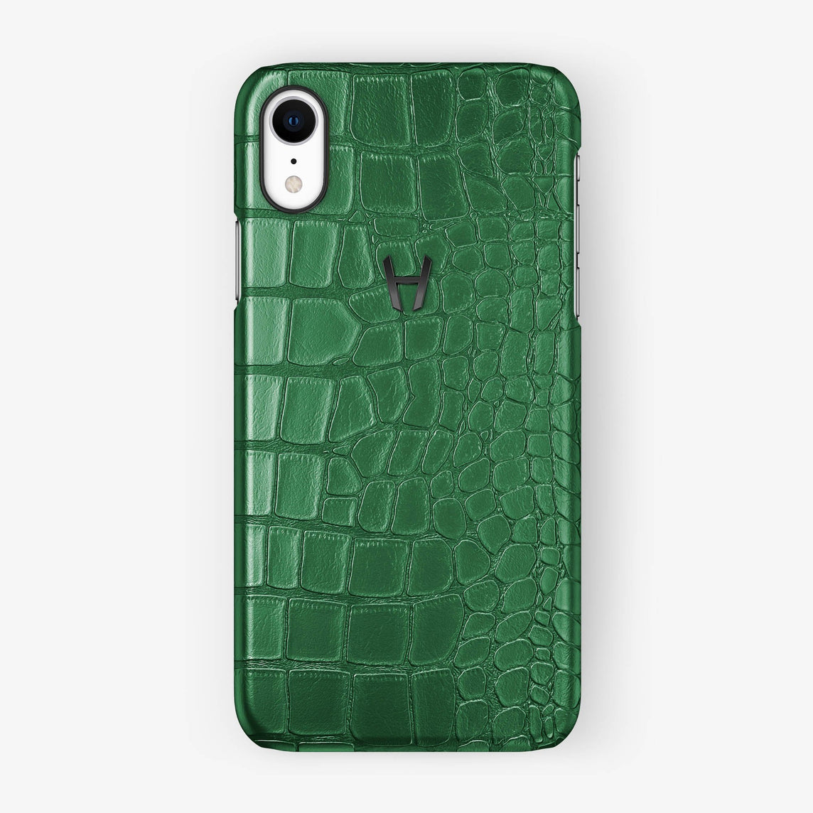 Alligator [iPhone Case] [model:iphone-xr-case] [colour:green] [finishing:black]